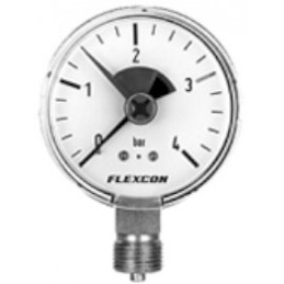 "Manometer FLEXCON 80mm 1/2"" Rückschlagventil"